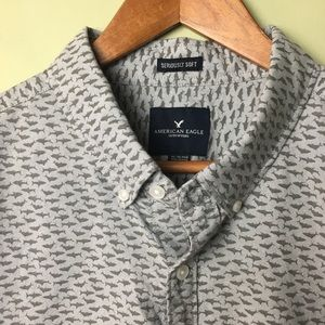 NWOT American Eagle Seriously Soft Shark LS Shirt
